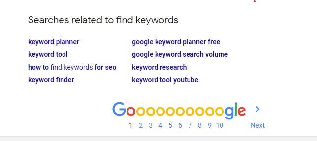 Google search related to